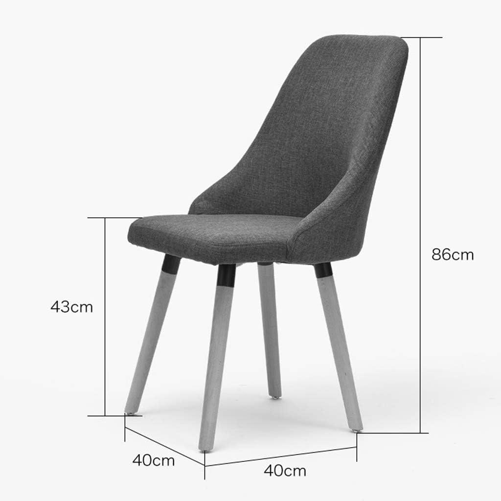 LF Chaise de Salle, Chaise de Bureau Simple, créative Dossier, Chaise Loisirs, Maison Adulte Chaise de Salle Simple (Color : Brown) Khaki