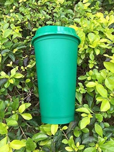 BBY Wiederverwendbares Reisekaffeeglas mit Deckel, grün, 401-500ml