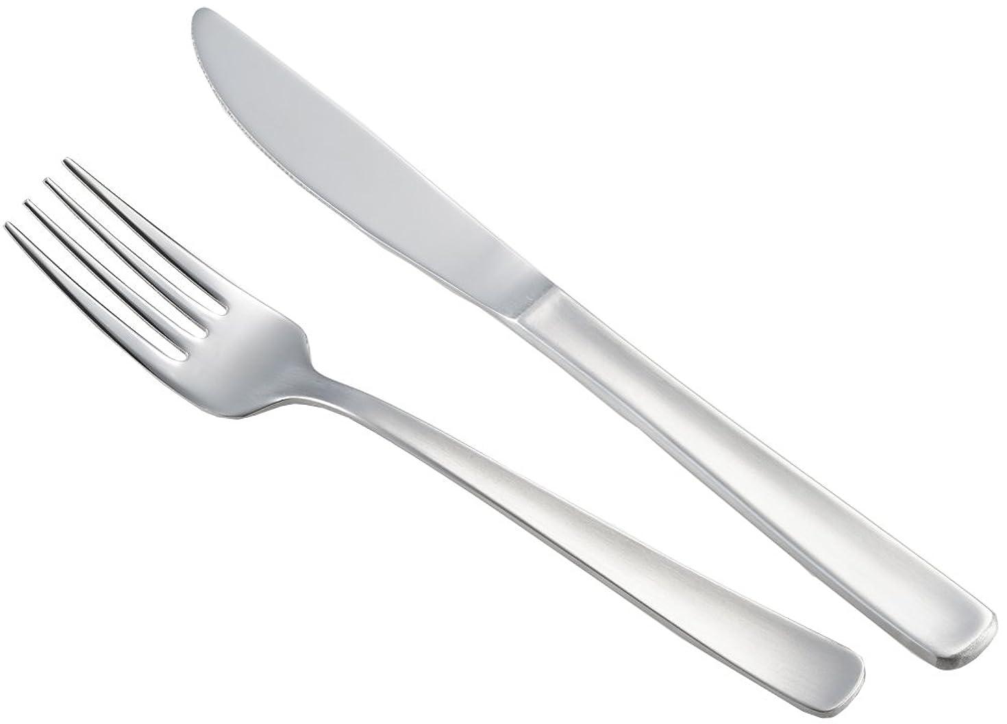 リクルートパトワ不条理ヨシカワ カトラリーセット シルバー (ステーキナイフ 20.6cm?フォーク18cm セット) 使いやすい 3072020