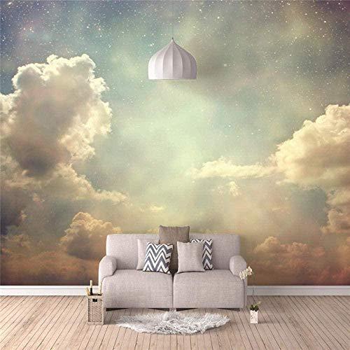 Carta da parati 3D Cielo nuvole Adesivo murale Tessuto non tessuto Design moderno Adesivi murali Immagini per pareti Soggiorno Camera da letto Ufficio Decorazione della casa-250x175cm