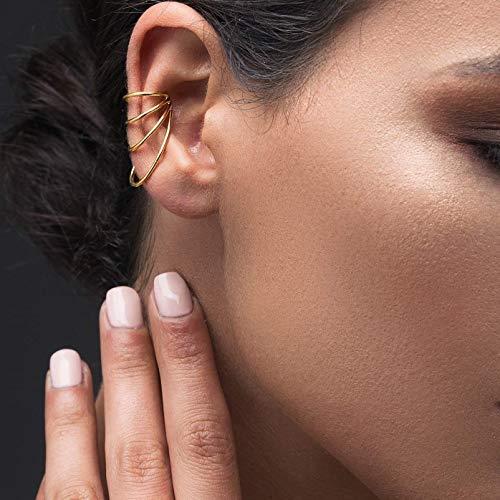925er Dreifachreifen Ohrstulpe aus Sterling silber, ohr manschette für nicht durchbohrtes Ohr, griechischer handgefertigter Schmuck von Emmanuela, Ohrkletterer, minimalistischer Ohrring ear cuff