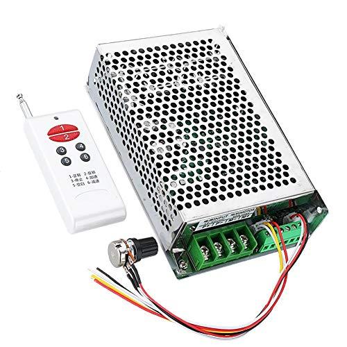 Basage Regulador de Velocidad del Controlador del Controlador de Velocidad del Motor 12-30V 30A con Control Remoto InaláMbrico