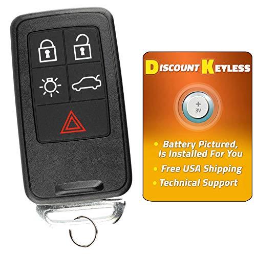 For 08-17 Volvo S Series, V Series, XC Series Keyless Entry Remote Smart Key Fob 5btn KR55WK49264, 30659637, 8676870