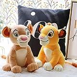 El Rey León Simba Nala Simba Joven muñeco de Peluche Mufasa Juguete de Felpa para niños Regalos de Juguete 28cm 2 uds
