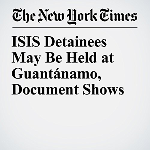 ISIS Detainees May Be Held at Guantánamo, Document Shows copertina