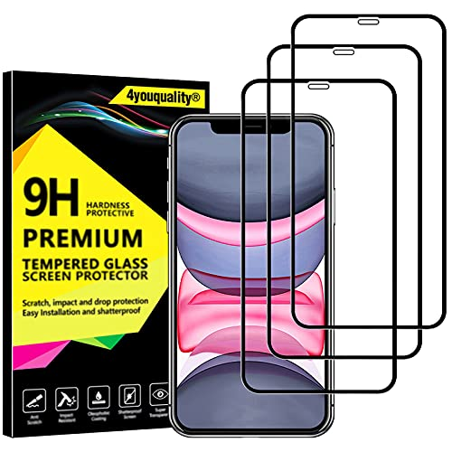4youquality [3-Pack[Full Coverage] iPhone 11 and iPhone XR Screen...