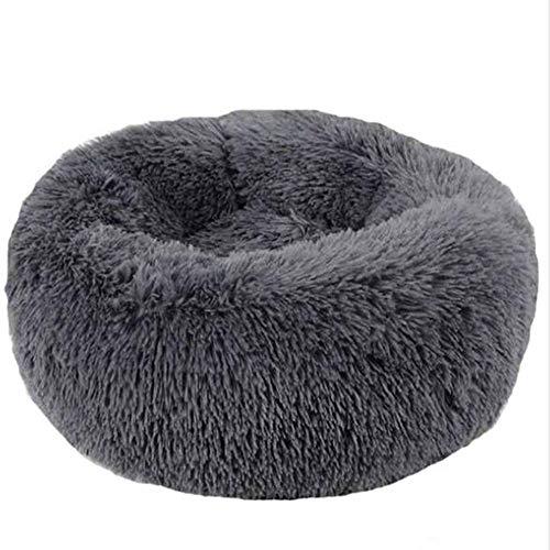 TYBSTA Almohada de Peluche Redonda Cat Dog Pet Nest Donut