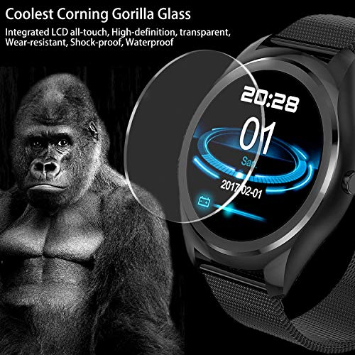13-Fitness-Smart-Watch-for-Men-Women-Gorilla-Glass-TouchActivity-Tracker-IP67-Waterproof-with-Blood-Pressure-HR-Monitor-Smart-Phone-Watch-for-Android-iOS-Christmas-Birthday-Gift