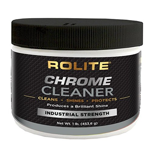 Rolite Chrome Cleaner (1lb) for All Chrome Plated Surfaces. Motorcycles, Automobiles, Boats, RVs,...