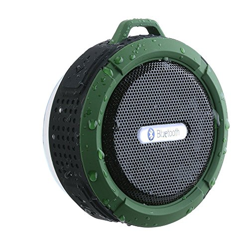 Altoparlante Bluetooth Impermeabile, AGPtEK Speaker Bluetooth 3,0 Wireless Portatile Stereo IP65, A2DP, Vivavoce, Microfono Integrato per Doccia Barca Auto Spiaggia Outdoor per iPhone e Smartphone Android e Tablet PC, ecc