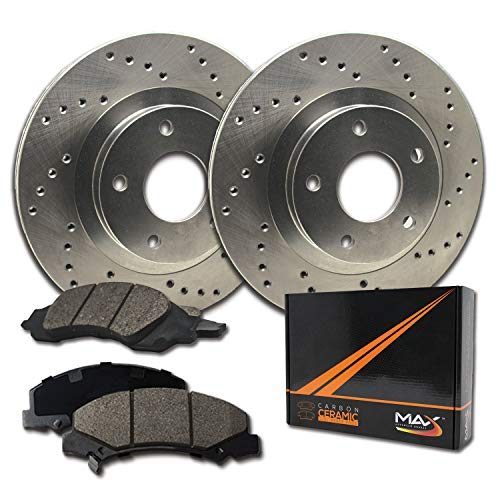 [Front] Max Brakes Premium XD Rotors with Carbon Ceramic Pads KT015321