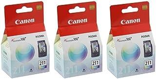 3 X Canon CL-211, 2976B001 (CL211CLR) Color OEM Genuine Inkjet/Ink Cartridge - Retail