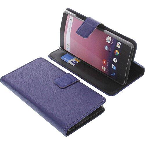 foto-kontor Tasche für Vernee Thor E Book Style blau Kreditkarte Schutz Hülle Buch