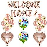 Pancartas Welcome Home Banner Y Globos Bienvenido,WELCOME HOME Banner,Bienvenido Home Decorations Bienvenido a Casa Banner Balloons,Banner de Decoracion Home para Adornar Casa de Fiesta Familiares
