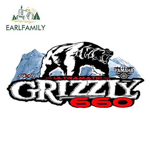 EARLFAMILY 13cm x 6.3cm For Grizzly Oem Fine Decal Waterproof 3D Car Stickers Vinyl Car Wrap Personality Creative Stickers