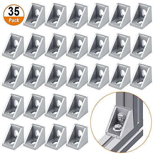 Eckwinkel Aluminium 35 Stück L-förmige Klammern Aluminium Eckverbinder Winkelverbinder rechtwinklige Halterung für 2020 Aluminium Extrusion Aluminium Eckverbinder L Form Eckwinkel Aluminium
