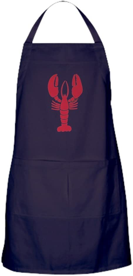 CafePress Lone Lobster Apron Free shipping anywhere in the nation Dark Pockets 40% OFF Cheap Sale with Kitchen