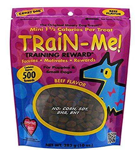 Crazy Dog Train-Me! Beef Mini Training Reward Treats (1 Pouch), 10 Oz