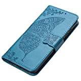 HAOYE Case for Huawei Y6s Case Wallet, Butterfly Embossed