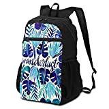 CHENWE Tropical Wanderlust Foldable Travel Backpack Casual Backpack, Student Bag Travel Storage Bag