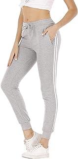 Mujer Pantalon Chandal Largos Pantalones de Deporte Yoga