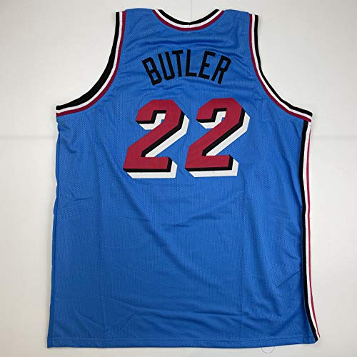 Unsigned Jimmy Butler Miami Blue City Vice Custom Stitched Basketball Jersey Size Men's XL New No Brands/Logos