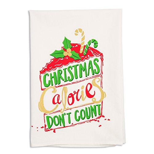 Holiday Hoopla 81544 - Strofinaccio natalizio, motivo: calorie, colore: bianco
