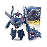 LUNE Super Wings Transformable Juguetes Agent Chace Regalo De Niño Robot De Deformación Aeronave Coche Navidad Cumpleaños Año Nuevo Regalo Plano Deformado 5Inch 13.5CM