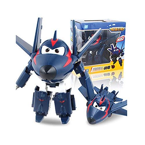 スーパーウィング 男の子の贈り物 変形ロボット 航空機 変身 スーパーウィング 車 クリスマス お誕生日 新年 贈り物 変形した平面 5インチ 12CM Super Wings,Agent chace