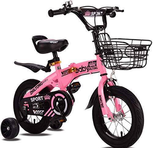 MUXIN Bicicleta Plegable Infantil con Pedales para Niño Y Niña, Ruedines De...