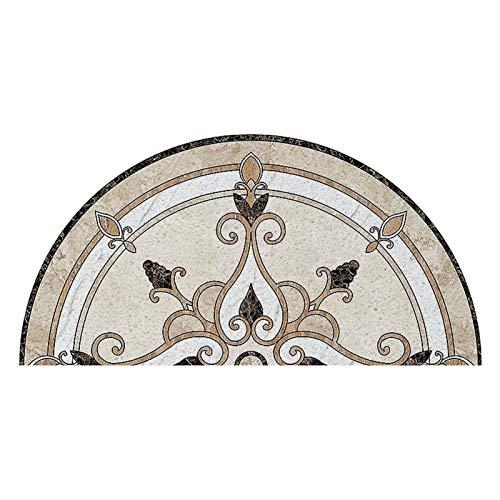 FCS Bathroom Felpudo de Entrada de Casa Alfombras Entrada Casa Tapete Exterior o Interior Antideslizante, Impermeable, Lavable para Atrapar Suciedad para Recibidor (Color : A, Size : 75CMx150CM)