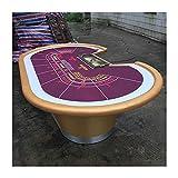 Mesa De Juego De Mesa De Póquer, Juegos De Casino Blackjack Baccarat, 9 Jugadores Texas Holdem Poker Table para Texas Casino Leisure Game Blackjack Board Game, 260X160cm, Morado Y Dorado