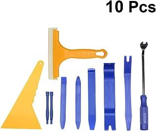 Wakauto Kit de ferramentas de remoção de áudio para painel de carro, 10 peças, alicates de fixação para rádio automotivo