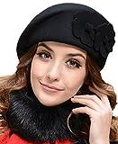 Demarkt Elegant Damen Baskenmütze Damenmütze Blumen im Herbst und Winter