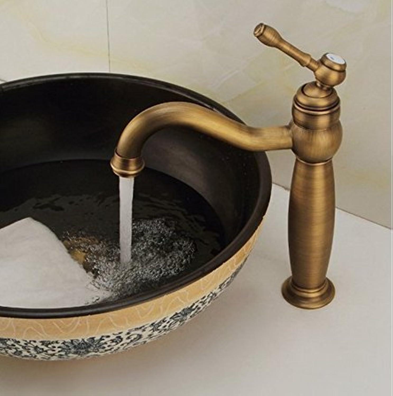 Bathroom Sink Taps Antique Full Copper European Basin Hot Water Faucet Single Hole redation Bathroom Faucets