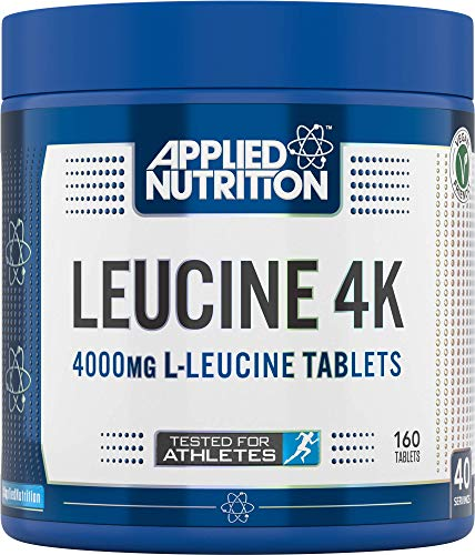 Applied Nutrition Leucine 4K - 4000mg Tablets Ideal for Pre & Post Workout Primary Branched Chain Amino Acid L-Leucine Supplement Essential Amino Acid 160 Tablets | 40 Servings