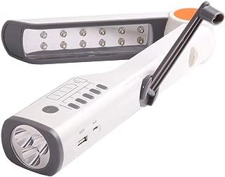 LEDソーラー手回し発電式懐中電灯/非常灯/防災/ラジオ/アラーム/テーブルランプ/モバイルバッテリー (NO.1)