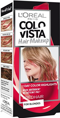 L'Oréal Paris Colovista Hair Makeup, 1-Day-Color-Highlights, 10 redhair