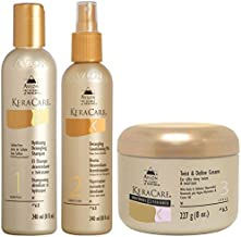 Keracare Detangling Shampoo And Conditioner Duo With Natural Textures Twist And Define Cream