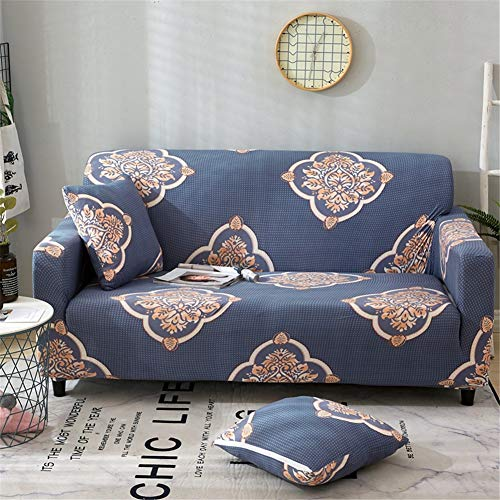 FFKLLL Sofabezug Mit Elastischem Musterdruck, Hussen-Sofa, Sessel Mit 2 Sitzen (145-185 cm) Für Das Wohnzimmer Im Schlafzimmer (A-1,145-185cm)