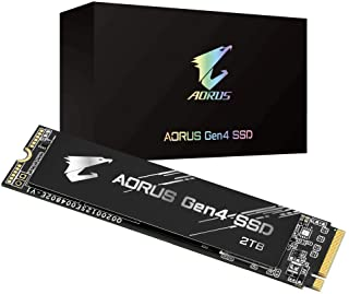 Gigabyte AORUS NVMe Gen4 M.2 2TB PCI-Express 4.0 Interface High Performance Gaming, 3D TLC NAND, External DDR Cache Buffer...