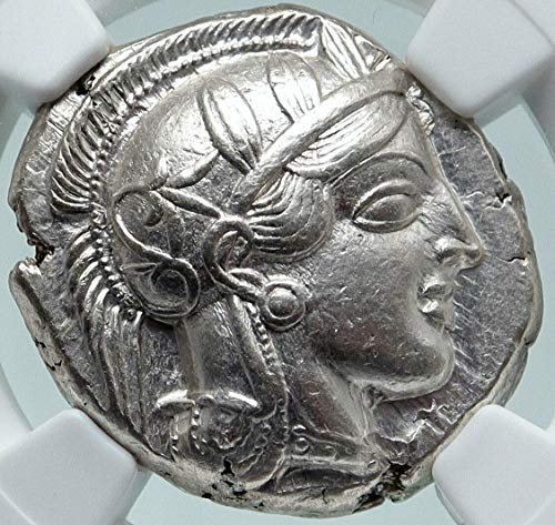 1000 GR ATHENS Greece AR Greek TETRADRACHM Coin Athena FU Tetradrachm AU NGC