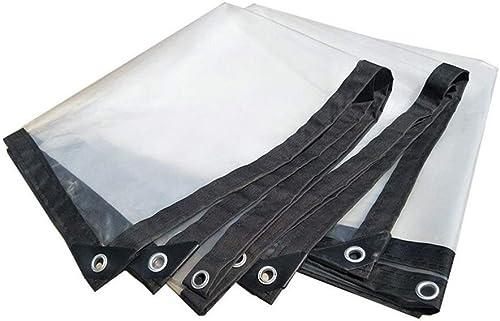 Wangcfsb Bache imperméable Heavy Duty Sun Room Plant étanche à la Pluie Transparence Extra épaisse Fusion Thermique Aucune Fuite d'eau PVC Verre Souple (Taille   2X10m)