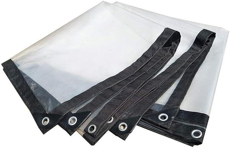 Wangcfsb Bache imperméable Heavy Duty Sun Room Plant étanche à la Pluie Transparence Extra épaisse Fusion Thermique Aucune Fuite d'eau PVC Verre Souple (Taille   2X5m)