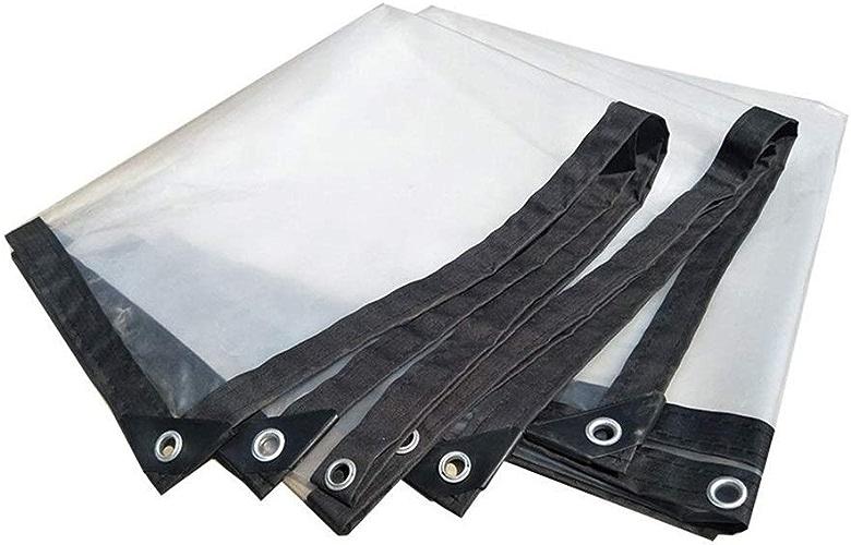 Wangcfsb Bache imperméable Heavy Duty Sun Room Plant étanche à la Pluie Transparence Extra épaisse Fusion Thermique Aucune Fuite d'eau PVC Verre Souple (Taille   4x6M)
