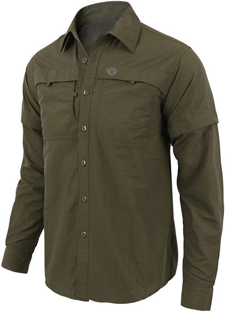 Gergeos Mens Long-Sleeve T-Shirts Fashion Casual Dress Shirt Slim Fit Button Down Shirt Tops S-XXXL