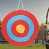手織りの屋外アーチェリー グラス ターゲット、アロー ダーツ ターゲット、練習撮影用直径 50 センチメートル