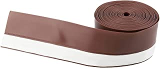 FastUU Waterproof Self-Adhesive Sealing Strip Door Window Sealing Strip, Weather Stripping, 5M 45Mm Door Window Sealing Strip Self-Adhesive Sealing Strip, Durable Weather Stripping for Smooth,(Brown)