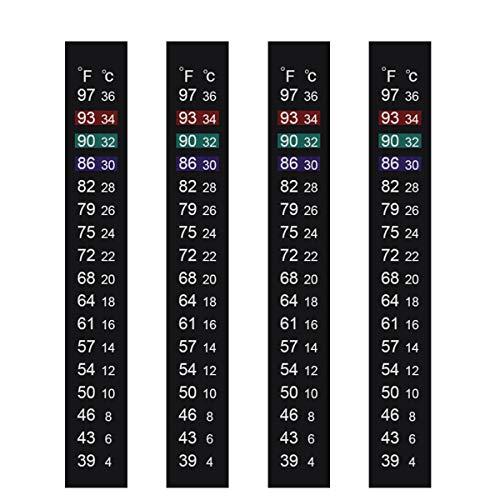 Jansamn Brewing Thermometer Strip Adhesive Strip Thermometer Aquarium Thermometer Sticker Thermometer Sticker for Fish Tank/Kombucha 39℉ to 97℉ & 4℃ to 36℃