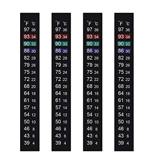 Jansamn Brewing Thermometer Strip Adhesive Strip Thermometer Aquarium Thermometer Sticker Thermometer Sticker for Fish Tank/Kombucha 39℉ to 97℉ & 4℃ to 36℃